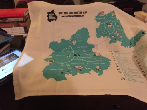 The essential Writing West Midlands Tea Towel - no Writer's Toolkit should be without one!